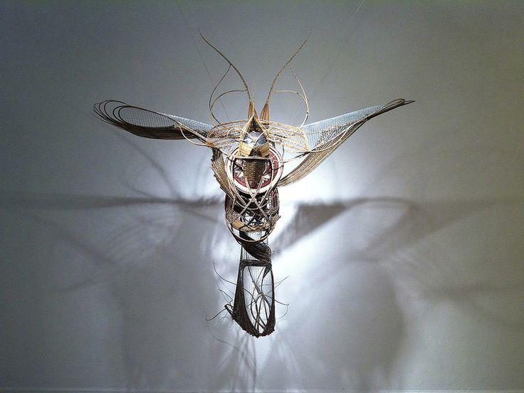 Adejoke Tugbiyele, Flight to Revelation, 2011. Palm stems, steel wire, trivet and mannequin head, 183 x 152 x 92 cm. Photo credit. Lloyd Lowe Jr.