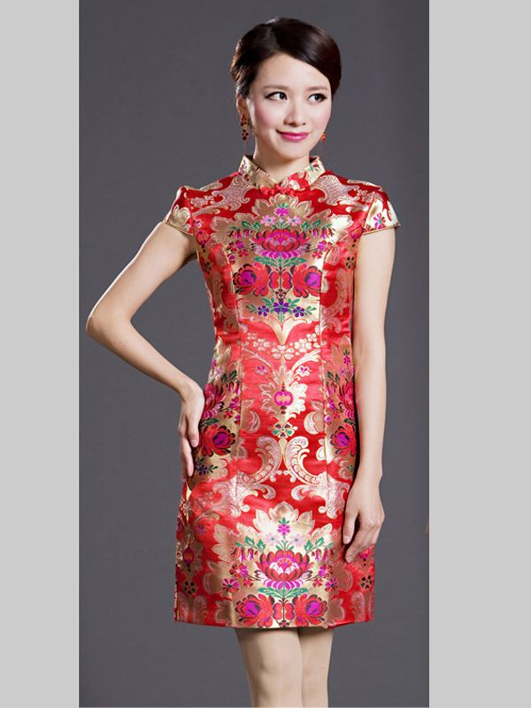 2dce8df6b Chinese Fashion Brocade Formal Dress | Girl in 2019 | Formal dresses ...