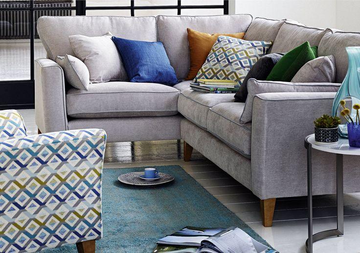 Copenhagen Fabric Corner Sofa - Furniture Village