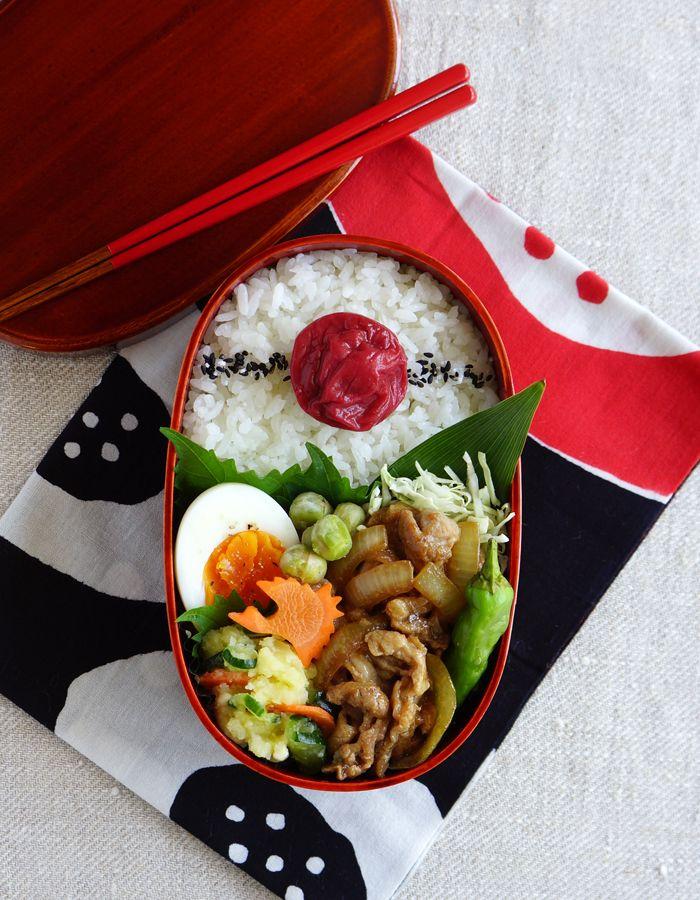 Ginger pork bento/豚の生姜焼き弁当