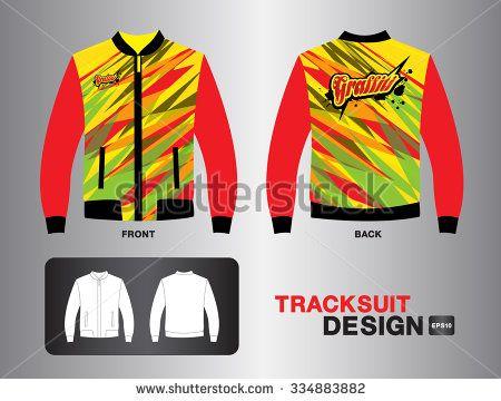 red tracksuit design vector illustration