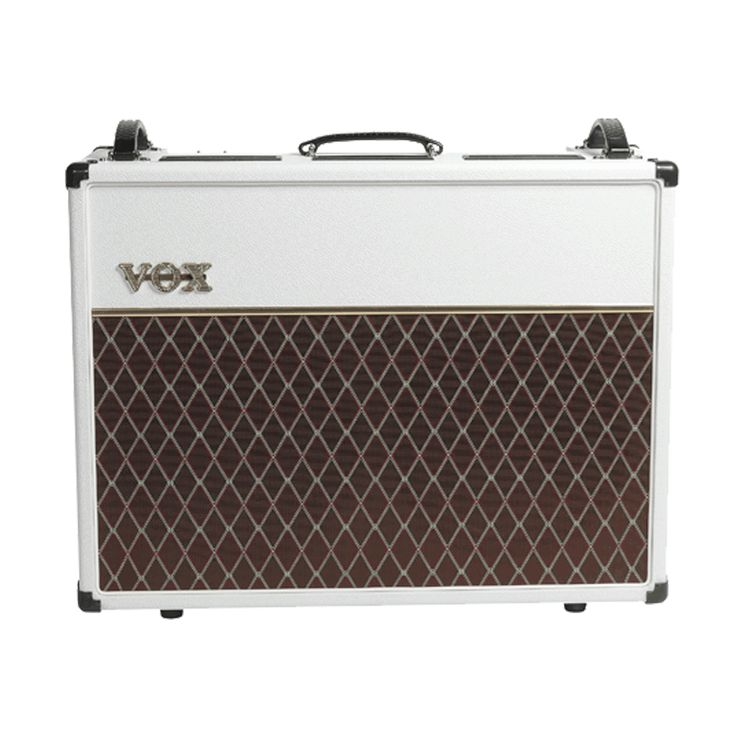 Vox AC30 Custom Limited Edition Tube Combo Amp - White Bronco