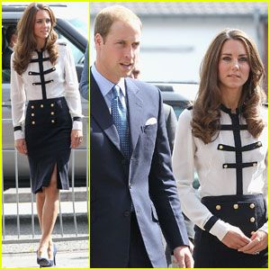 Princess Kate in Alexander McQueen. If you can't have her clothes, have her blow out.