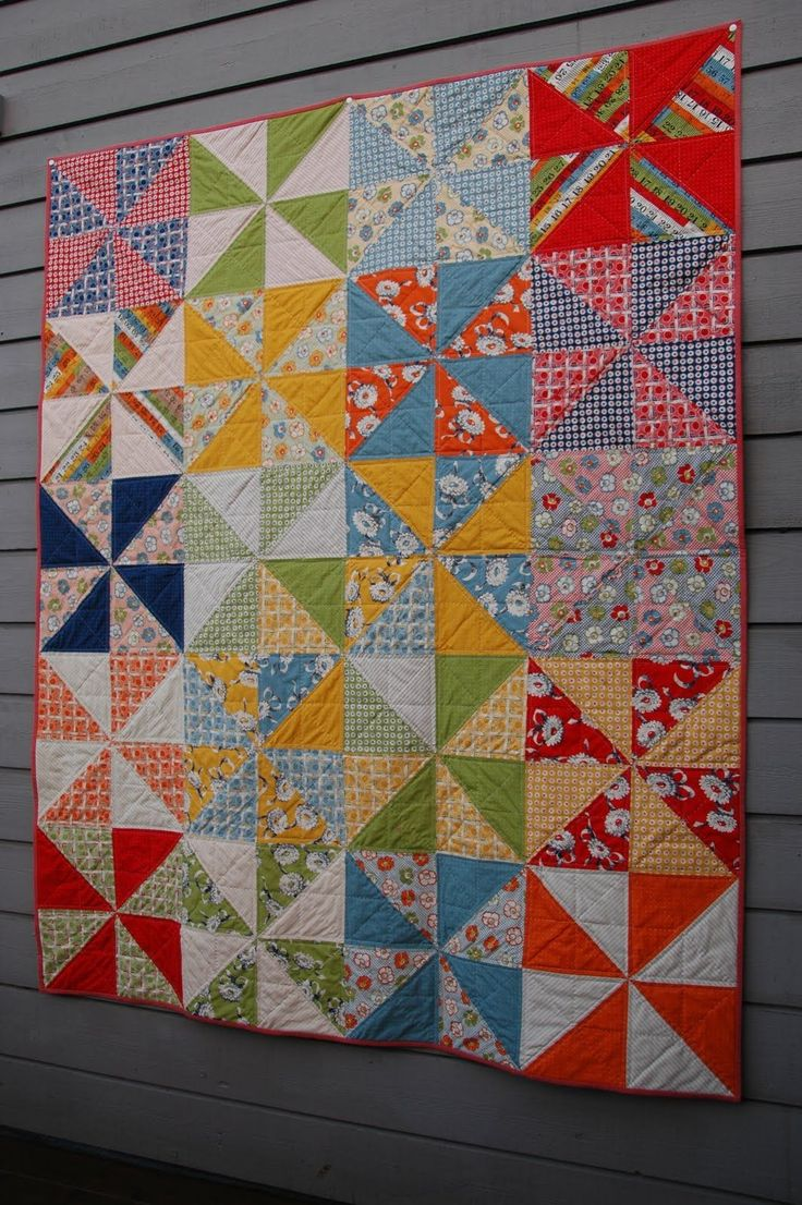 Quilt Pattern For Pinwheels : 17 Best images about Pinwheel quilts on Pinterest Quilt designs, Quilt and Windmills