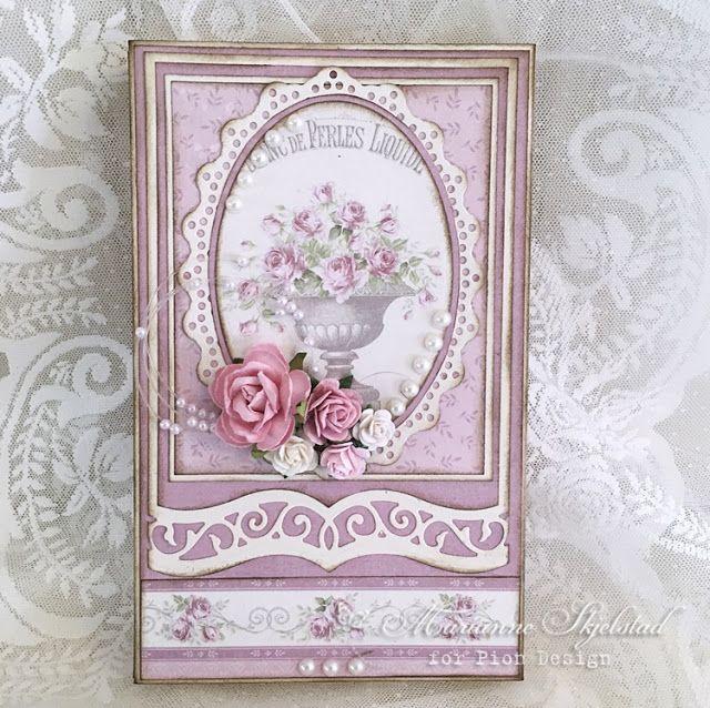 Jeg har laget en ny sjokoladeeske med den vakre Pion kolleksjonen Where the roses grow.