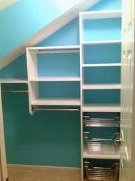 slanted ceiling attic closet small - Google Search                                                                                                                                                     More