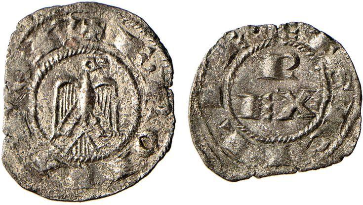 NumisBids: Nomisma Spa Auction 50, Lot 125 : MESSINA Federico II (1194-1259) Denaro (1212) – Biaggi (Brindisi)...