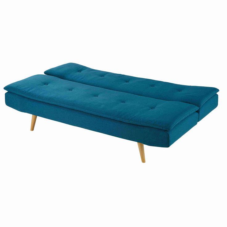 Stylish sofa beds for small spaces   Petrol blue 2/3-seater fabric sofa bed Dakota   Maisons du Monde
