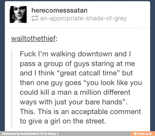 This is acceptable. Catcalls are not.