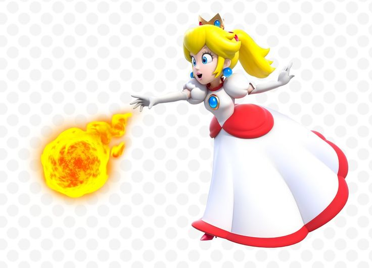 Fire Peach - Super Mario 3D World, Wii U