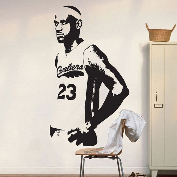 Basketball Cavs Lebron James Wall Decal Art by VinylWallArtworks