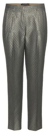 Etro Cropped Jacquard Trousers