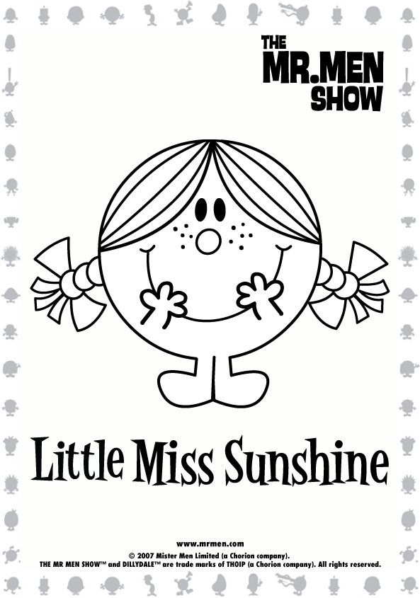 Mr. Men Show Printables