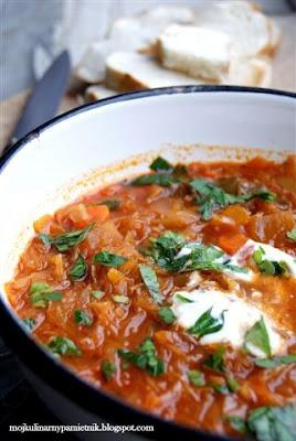 Bernika - mój kulinarny pamiętnik: Rosyjska zupa Szczi