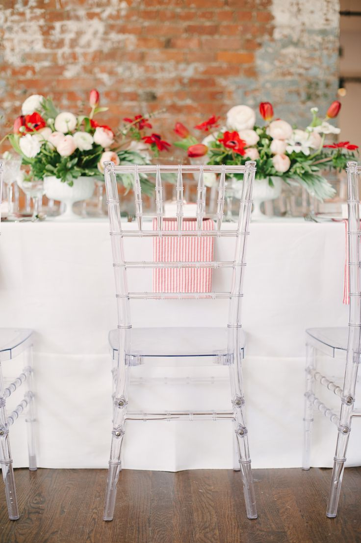Clear Wedding Chairs.  Photography: Brklyn View Photography - www.brklynview.com  Read More: http://www.stylemepretty.com/2014/06/12/bridal-shower-inspiration-with-a-fresh-pop-of-color/