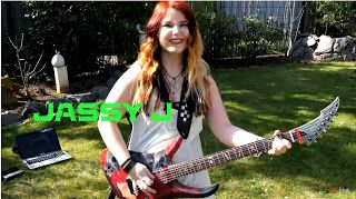 """Jassy J: AC/DC - T.N.T. [GUITAR COVER] with SOLO   AC/DC - T.N.T. - Album: T.N.T. (1975) guitar cover with solo by Jassy =) HAPPY BIRTHDAY ANGUS YOUNG!!!! \m/ MERCH =D  http://ift.tt/2k6ZM9Q...  """"'Cause I'm T.N.T. I'm dynamite """" \m/ ENG: Maaaan it's time again for a classic! T.N.T. is my favourite song of AC/DC I espacially love the ending! Very rhythmic song so awesome!! Hope you enjoy my cover! \m/ NOTE: I used a GUITARLESS BACKINGTRACK so that you can hear only my recorded guitars in the…"""
