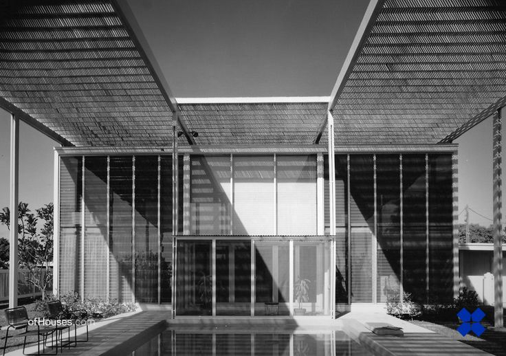 Paul Rudolph /// Philip Hiss Residence (The Umbrella House) /// Lido Shore, Sarasota, Florida, USA /// 1954