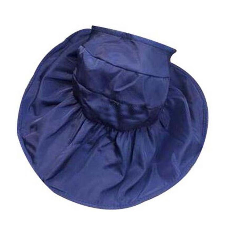 Beachwear Sun Hat for Women Beautiful Hat Foldable Floppy Wide Brim Hat Blue – Outdoor gear