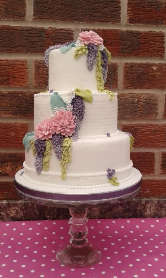 Pastel floral Wedding cake - Cake by Karen Flude ...