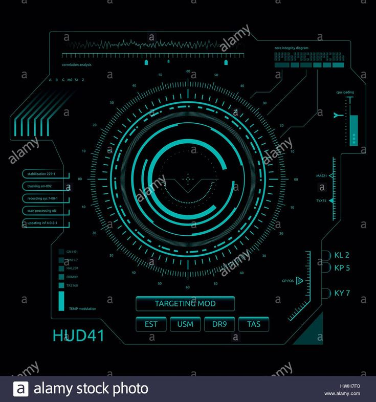 Download this stock vector: Set of futuristic user interface elements for dashboard or control panel - hwh7f0 from Alamy's library of millions of high resolution stock photos, illustrations and vectors.