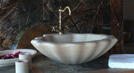 Lavabo in pietra bagno Conchiglia