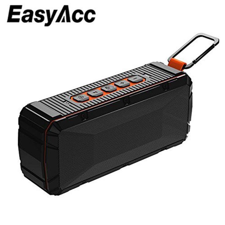 EasyAcc V3 Impermeable Bluetooth 4.2 Altavoz Portátil con Micrófono, Tarjeta Micro SD IPX6 Memorias USB para Samsung Xioami