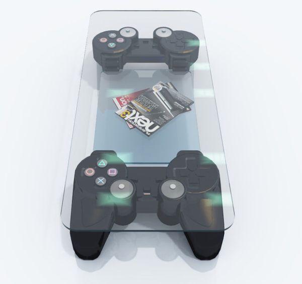 La mesa que todo amante de los videojuegos amaría.