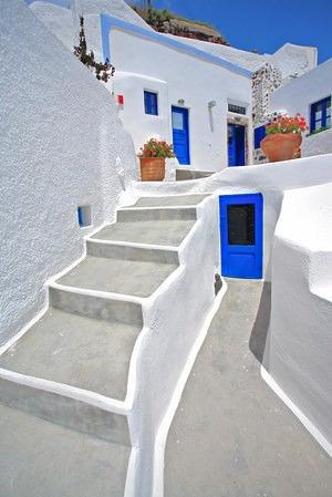 Traditional Greek House in Oia Village, Santorini, Greece