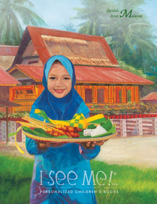 Malaysia - As featured in My Very Own World Adventure personalized childrens book by I See Me!