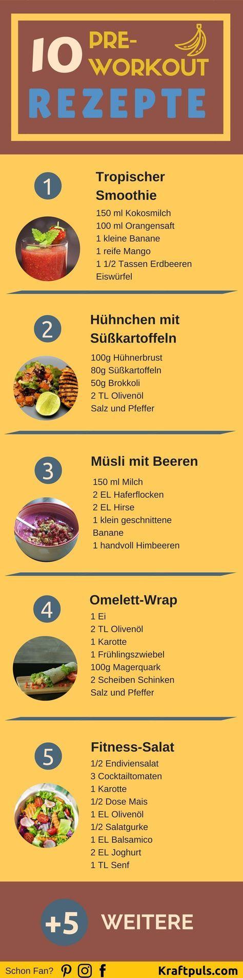 Pre-Workout Rezepte: Das richtige Essen vor dem Training ❤ Hier 10 Rezepte für die optimale Ernährung vor dem Sport ❤ #fitness #ernährung #deutsch