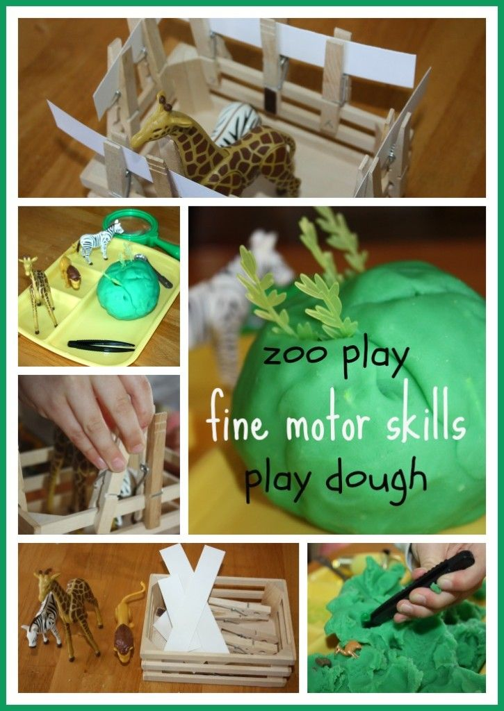 Zoo Theme Fine Motor Skills Play Dough Search & Find {Fine Motor Fridays}