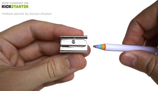 Rainbow Pencils Made of Recycled Paper