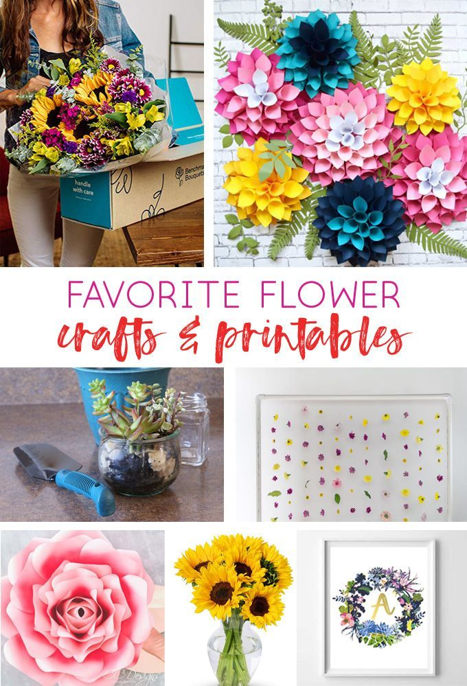 Flower Shop {Our Best Flower-Related Printables & Crafts All In One
