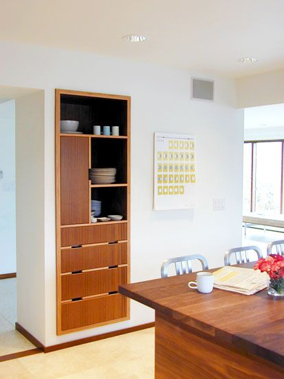 built in kitchen cabinets dwell houseplans pinterest