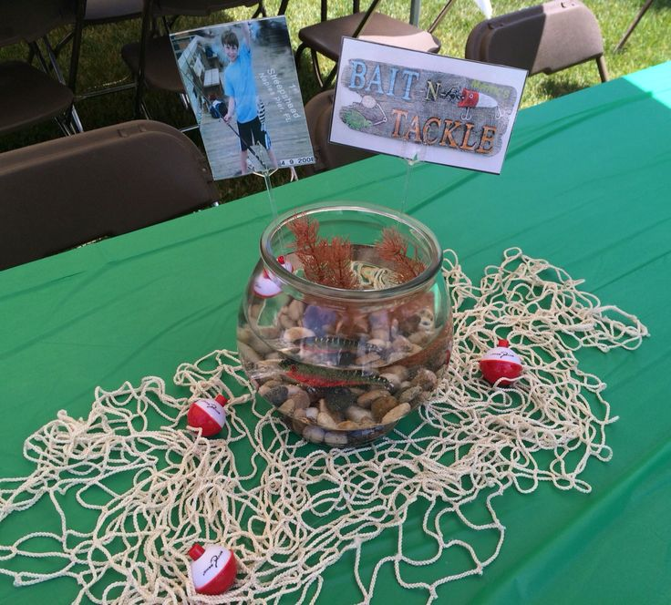 Happy National Hunting And Fishing Day: Fishing Centerpiece At My Son's Open House