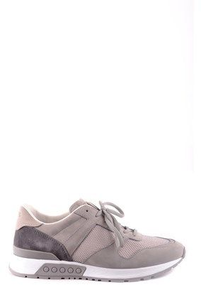 Tod's Men's Grey Fabric Sneakers