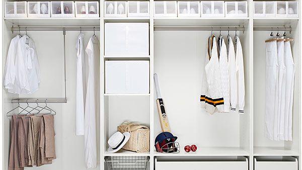 Walk-in closet room divider - IKEA