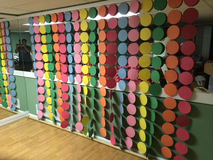 birthday party! (Cut out circles from construction paper and by using ...