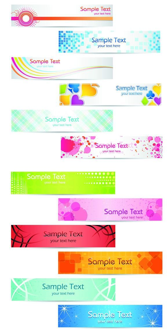 Lovely and lively banner design vector graphics