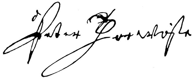 Peter Thorwoste's signature, the founder of Fiskars in 1649