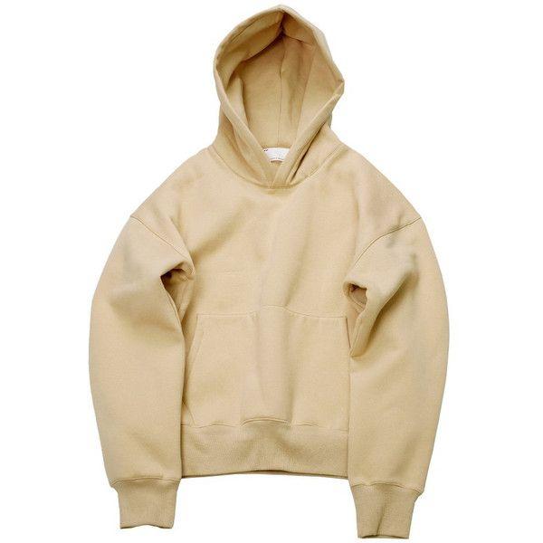 Nude Hoodie (€35) ❤ liked on Polyvore featuring tops, hoodies, hooded sweatshirt, hooded pullover, beige hoodie, sweatshirt hoodies and beige top