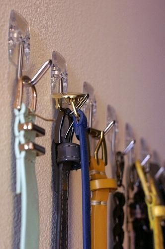 Use Command Hooks In The Closet To Hang Belts