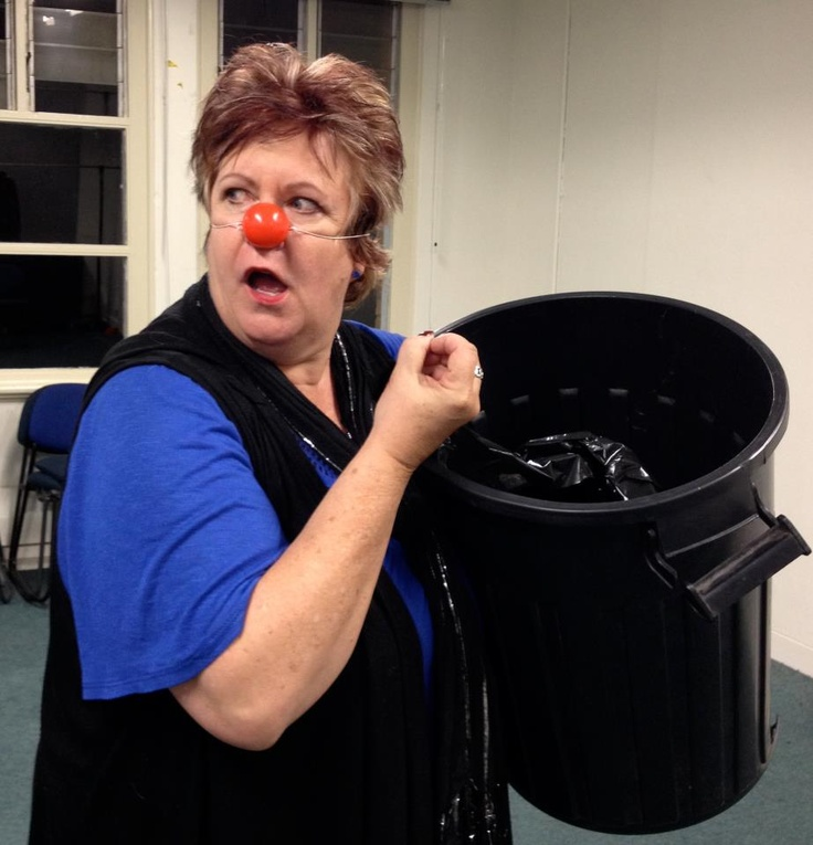 Finding my 'inner clown' at a clown workshop - great fun!