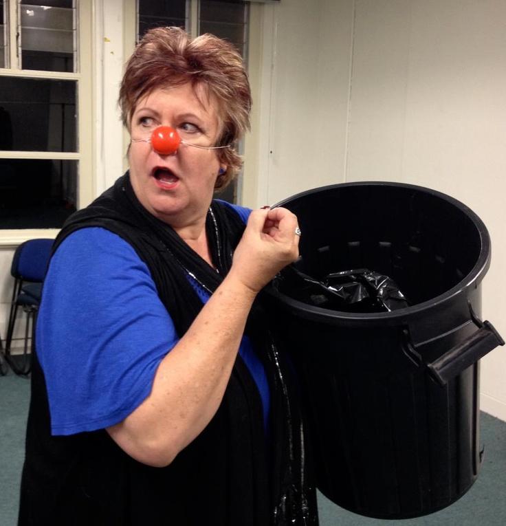 Finding my 'inner clown' at a clown workshop - great fun!