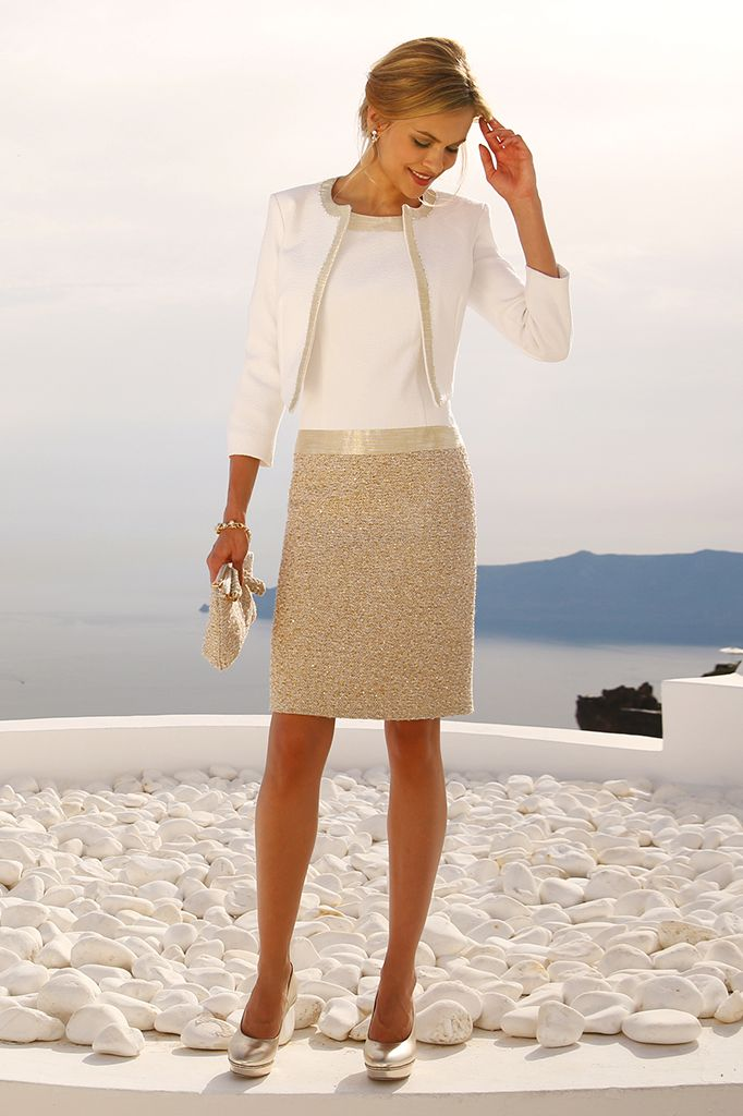 Stunning Droppped waist linea raffaelli outfit with matching new style crop jacket, we love this new trend