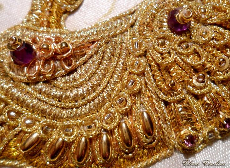 embroidery detail. (Gold embroidery)