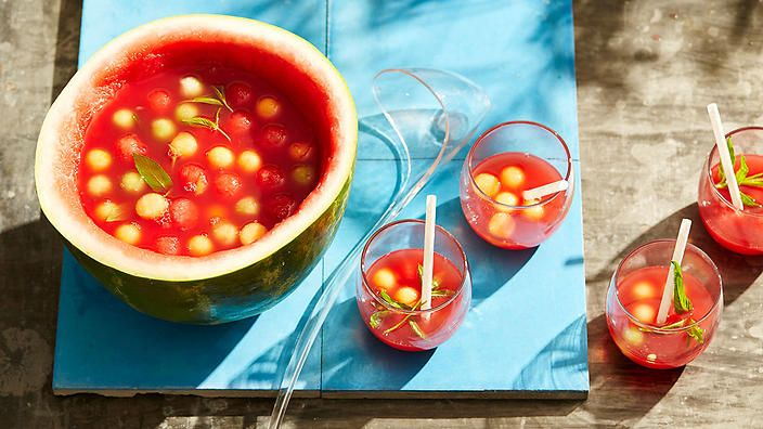 This one goes out to all the (melon) ballers. Watermelon soju punch via Anson Tsang of Ho Lee Fook.