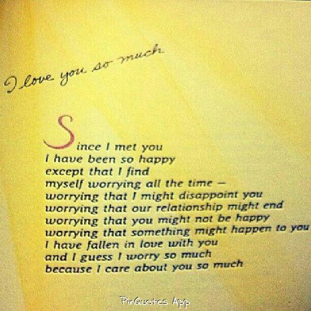 I Care About You Quotes: I Care About You So Much