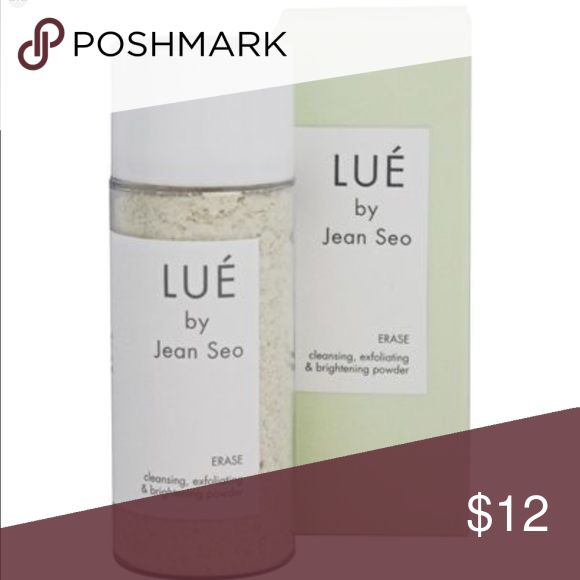 LUE Erase Exfoliating Powder Step 1 of LUE's Skin Solution Set, ERASE, is a cleansing, exfoliating & brightening powder. Made with non-fat milk powder, finely milled whole grain oats, and a touch of magnesium carbonate, this perfectly pH balanced gommage clears complexion, balances skin, and leaves it radiant and smooth. LUE by Jean Seo Makeup