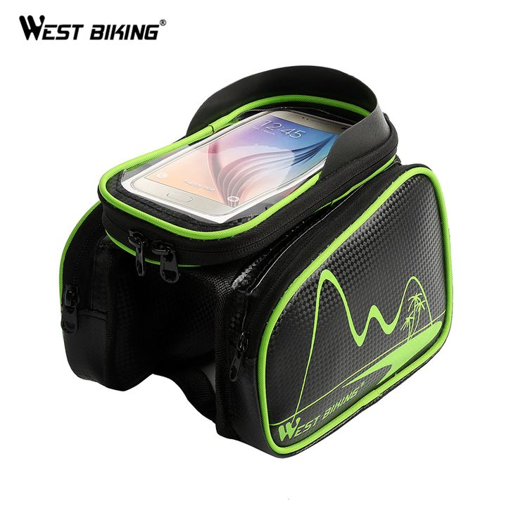 WEST BIKING Waterproof Bike Bicycle Frame Front Head Top Tube Bag Cycling Pannier Smartphone Touch Screen Cycling Front Tube Bag